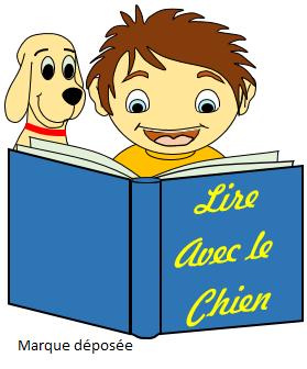 Logo de la marque déposée Lire avec le chien