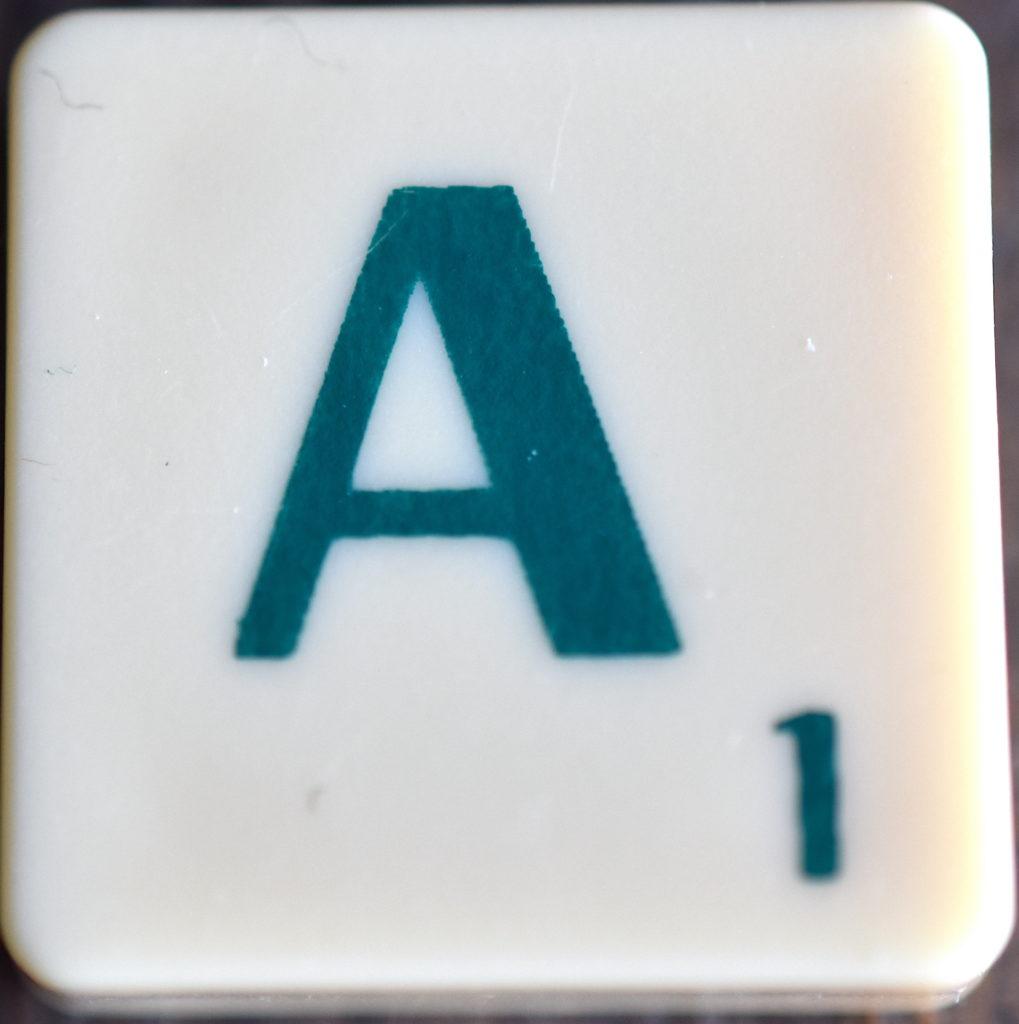 Lettre A Scrabble