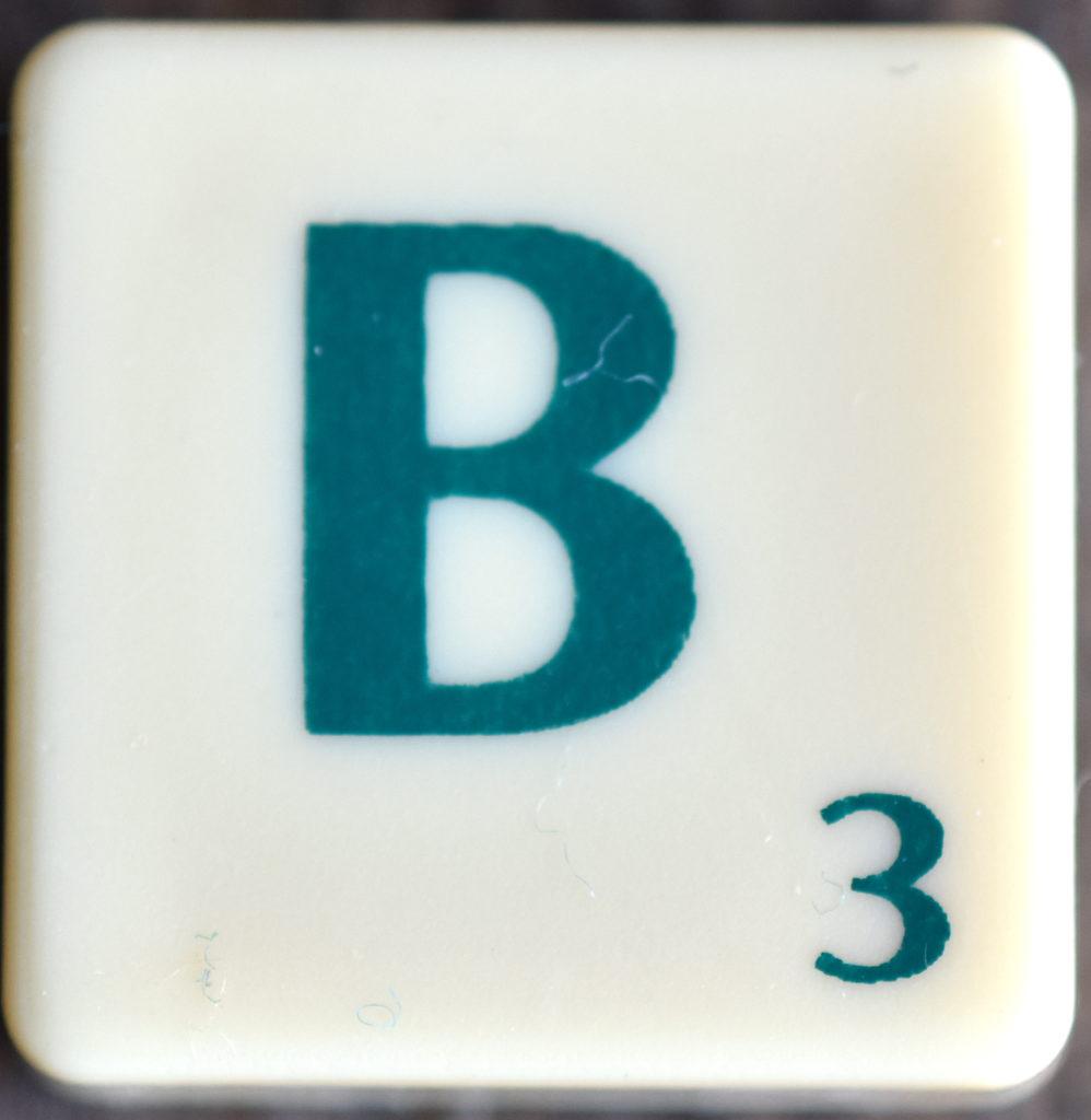 Lettre B Scrabble