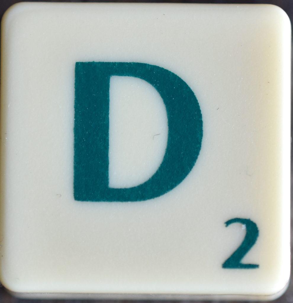 Lettre D Scrabble