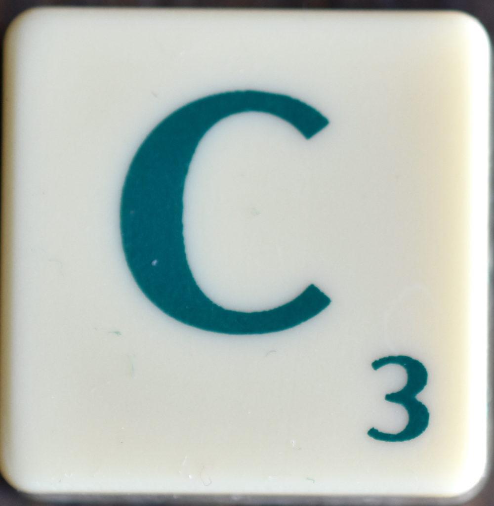 Lettre C Scrabble