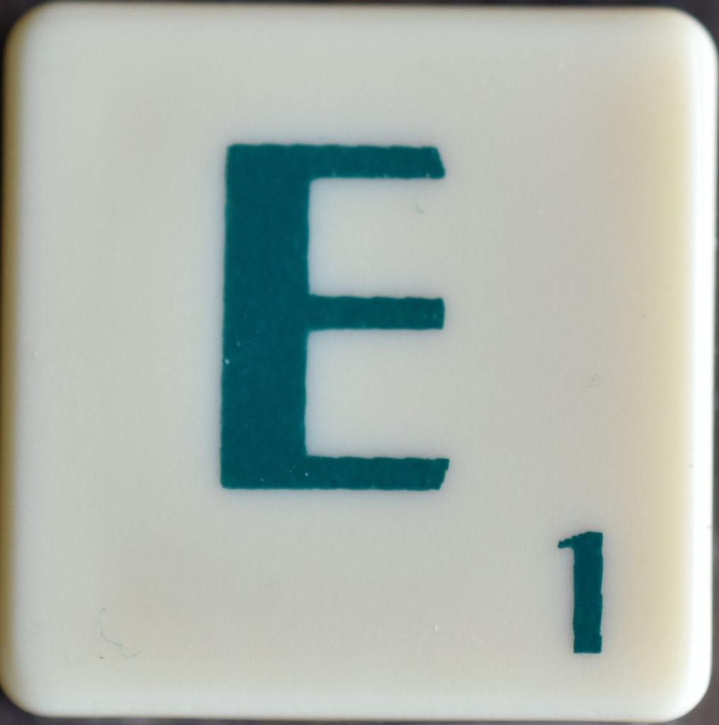 Lettre E Scrabble