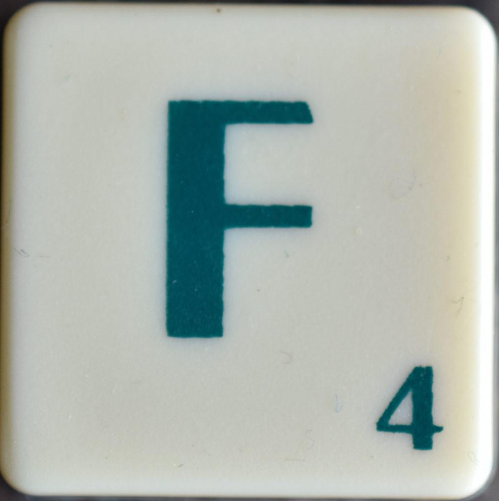 Lettre F Scrabble