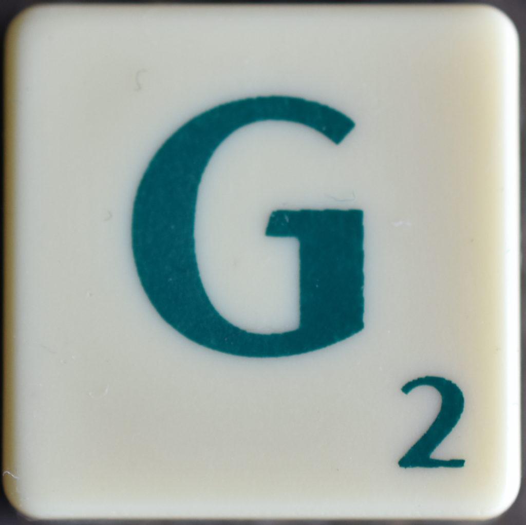 Lettre G Scrabble