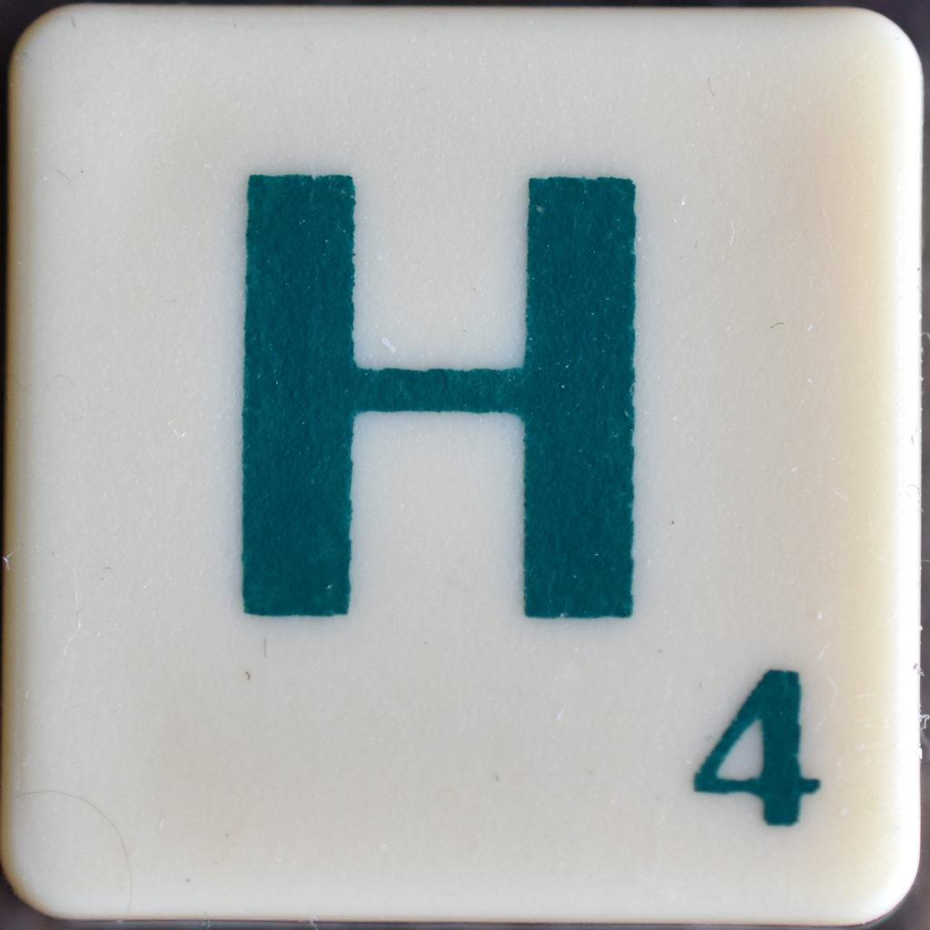 Lettre H Scrabble