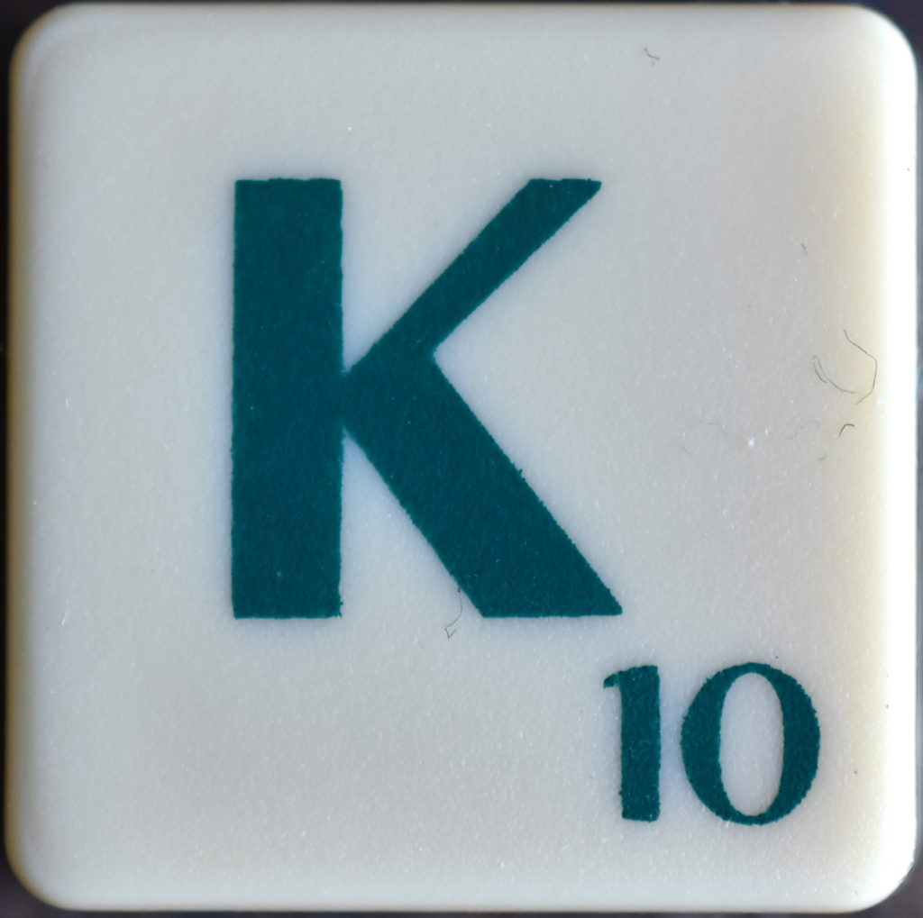 Lettre K Scrabble