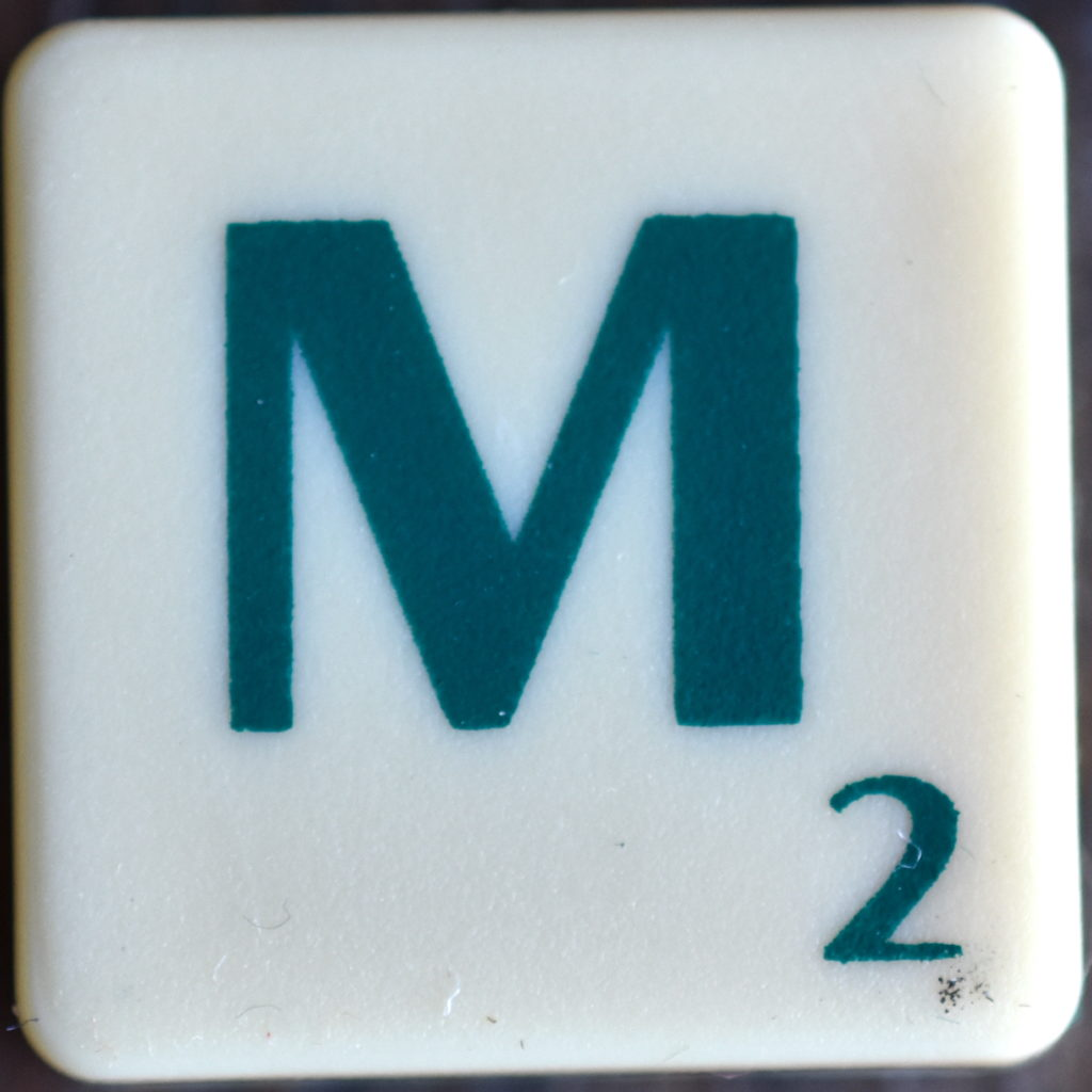 Lettre M Scrabble