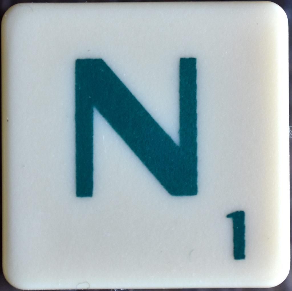 Lettre N Scrabble