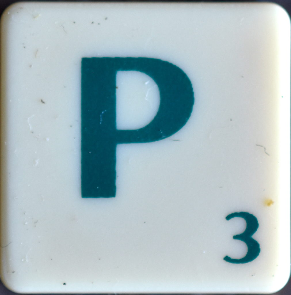 Lettre P Scrabble