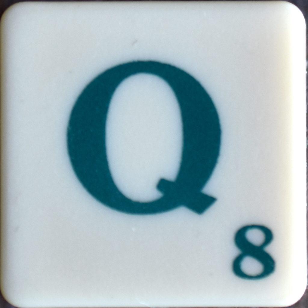 Lettre Q Scrabble