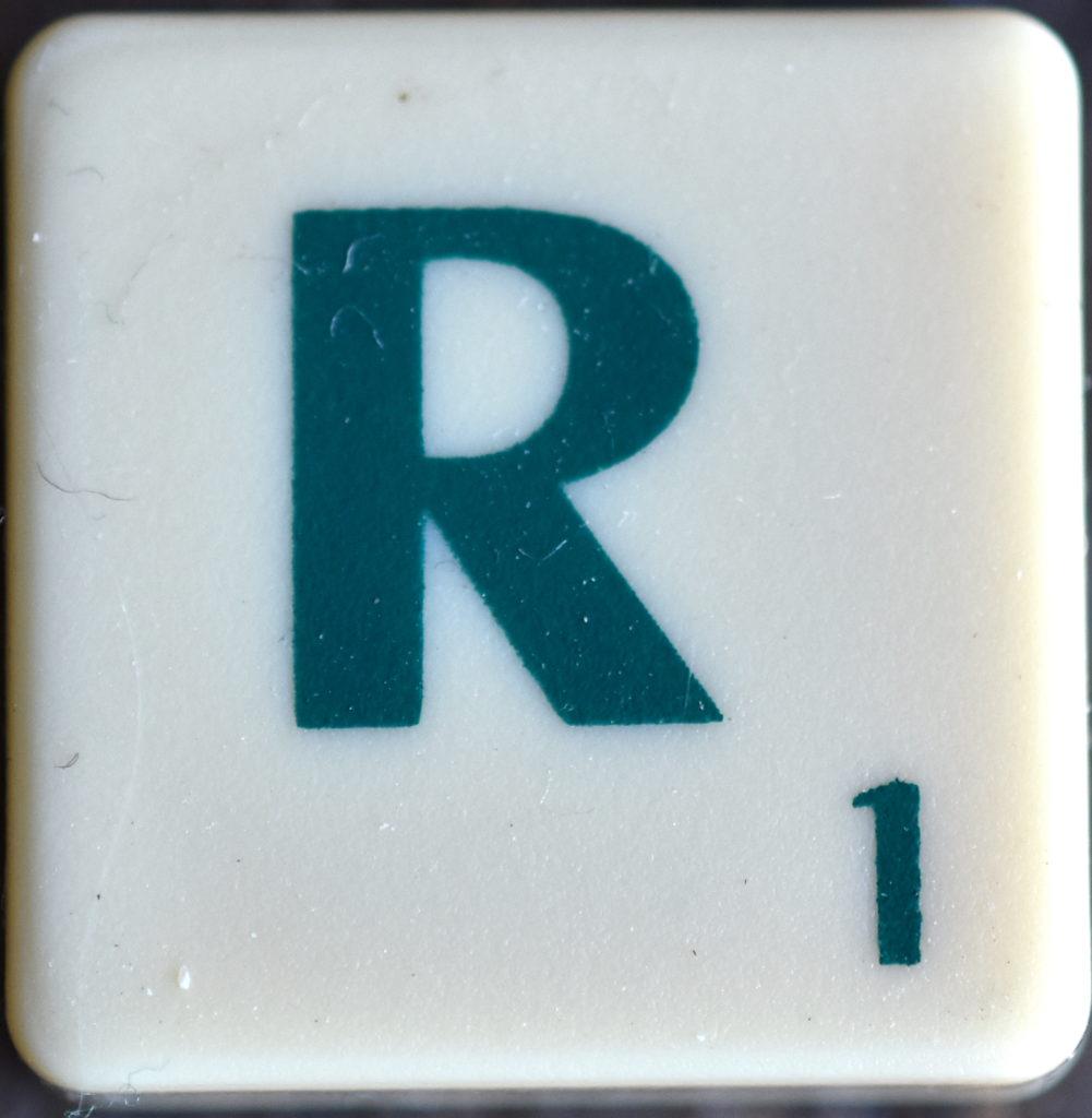 Lettre R Scrabble