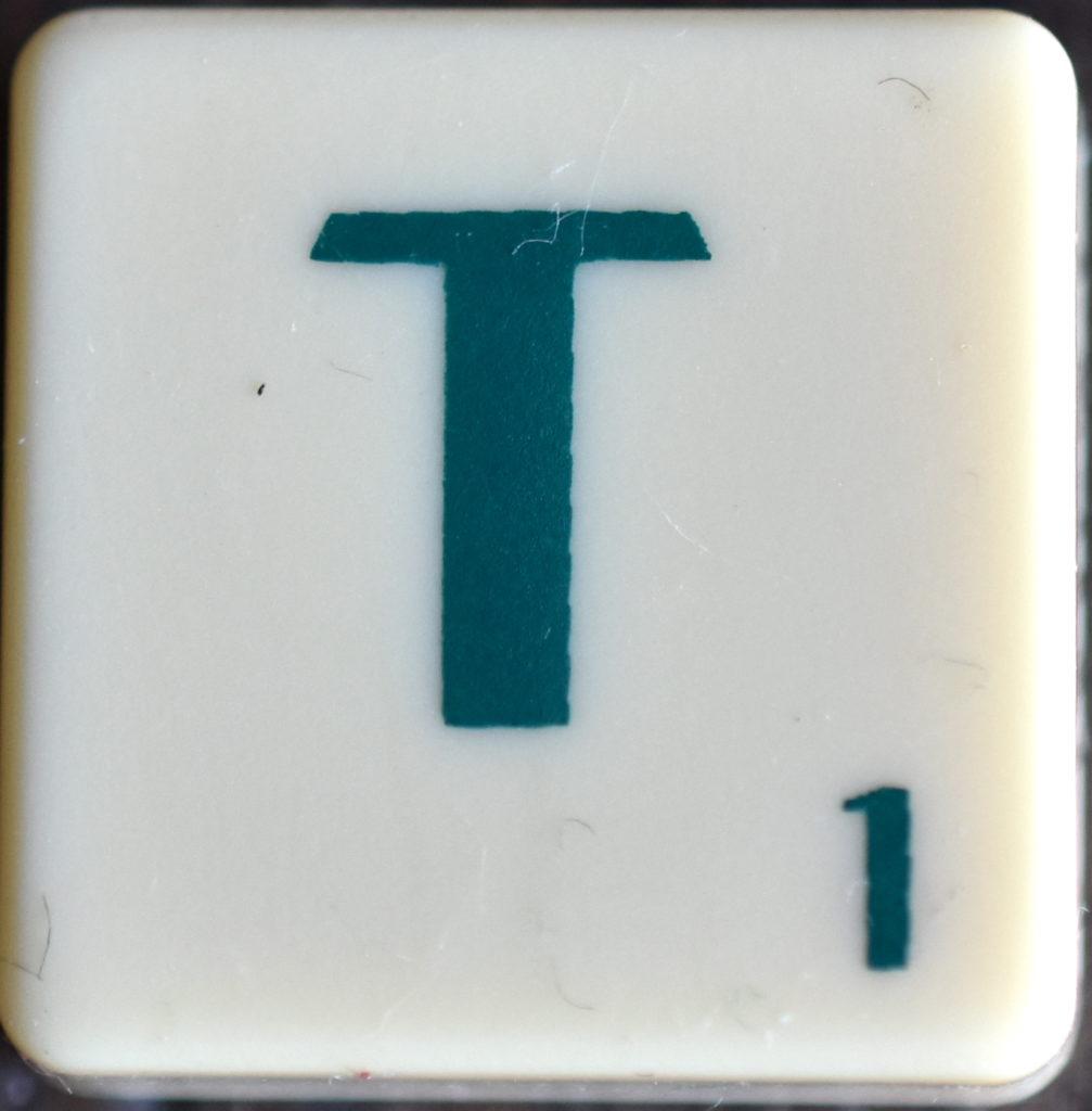 Lettre T Scrabble