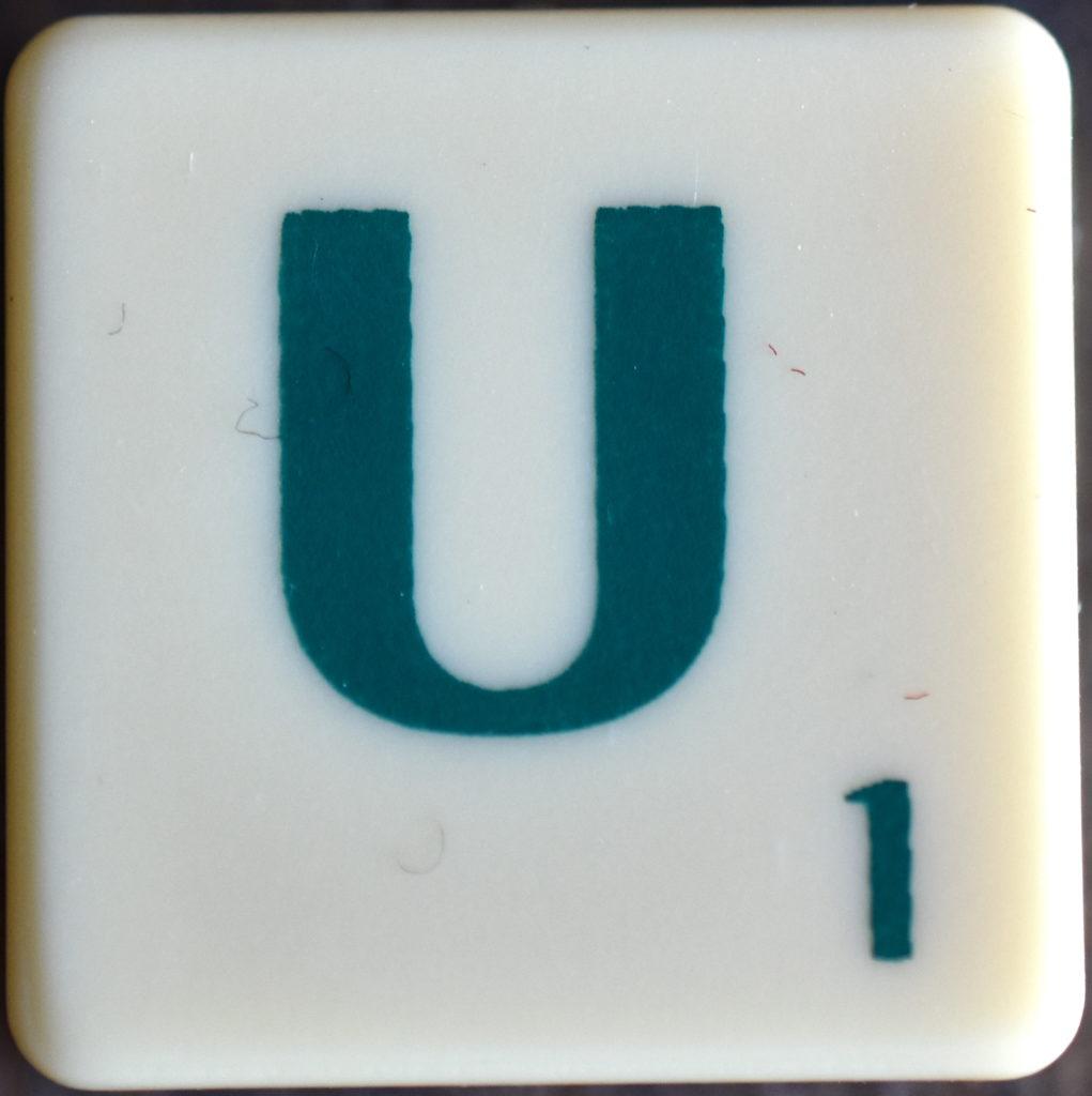 Lettre U Scrabble