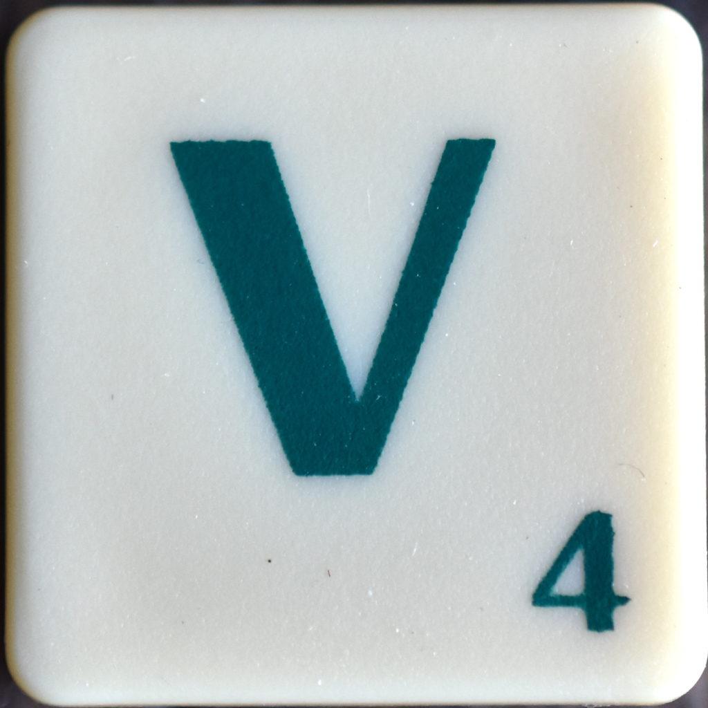Lettre V Scrabble