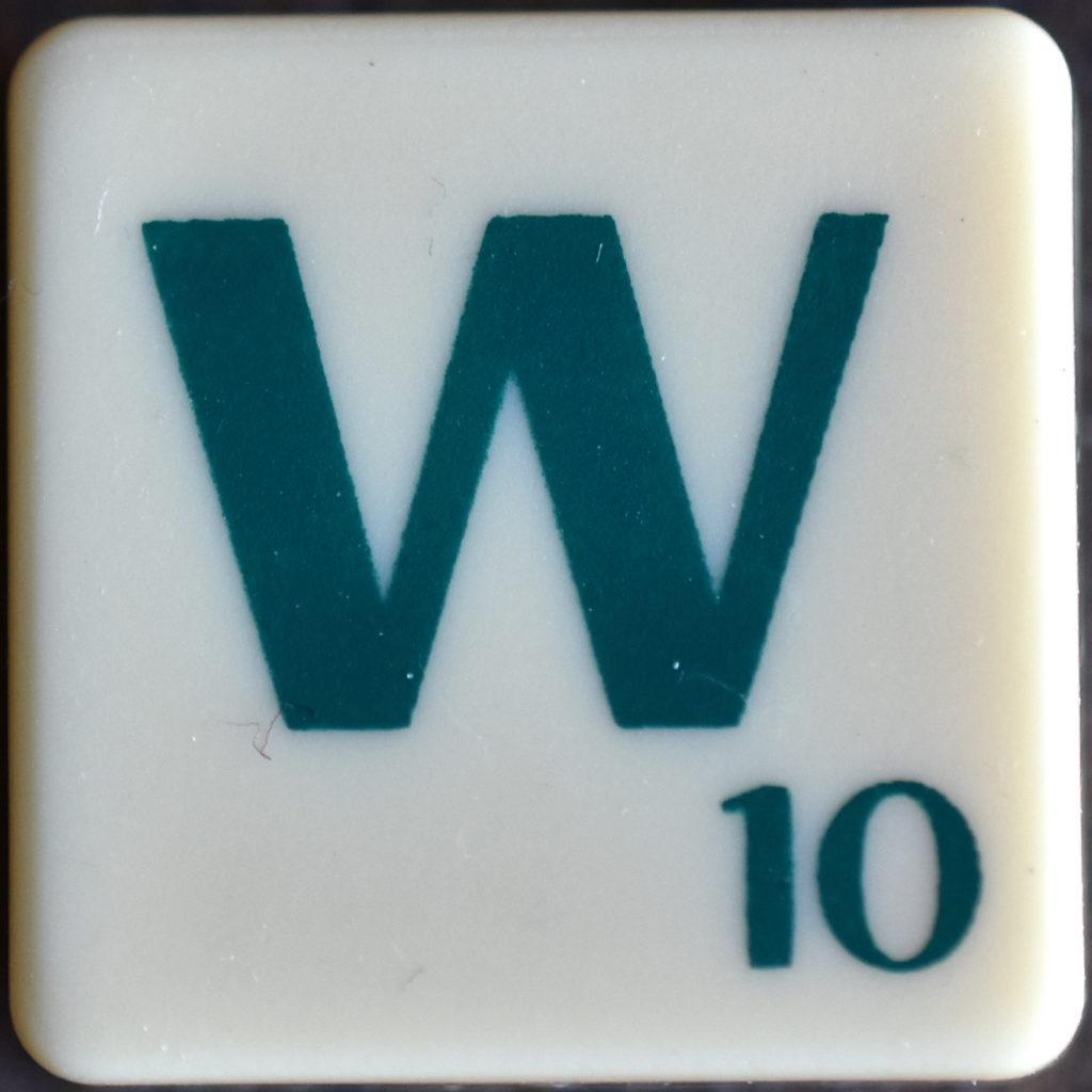 Lettre W Scrabble