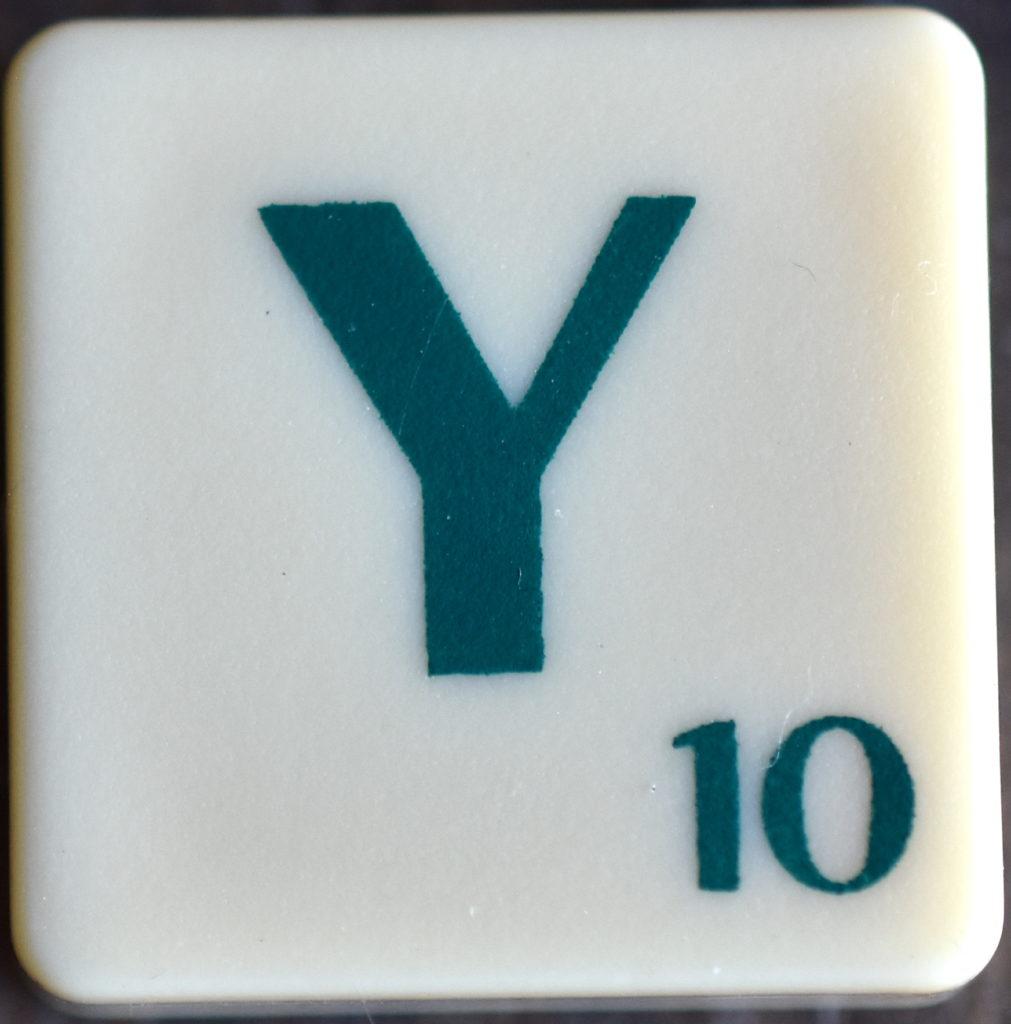 Lettre Y Scrabble