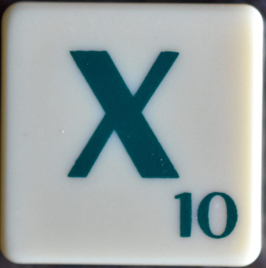 Lettre X Scrabble