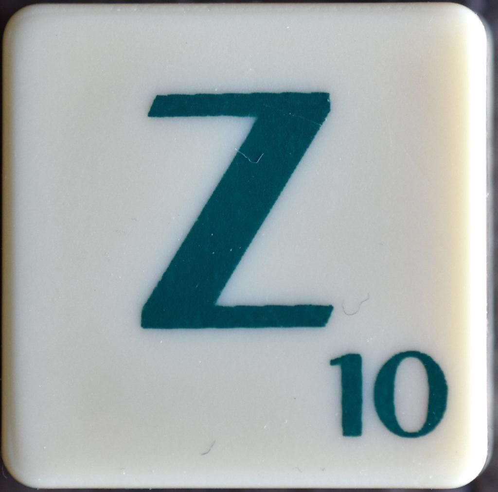 Lettre Z Scrabble